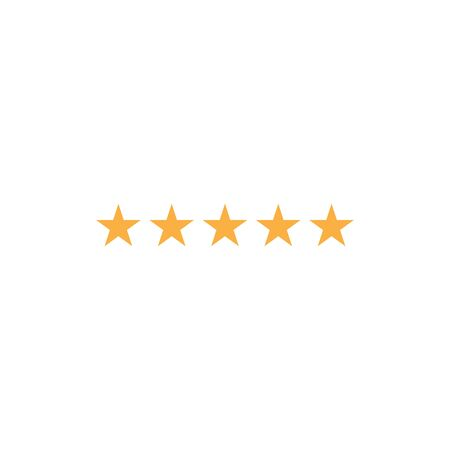 Five star icon vector. Rating sign Vectores