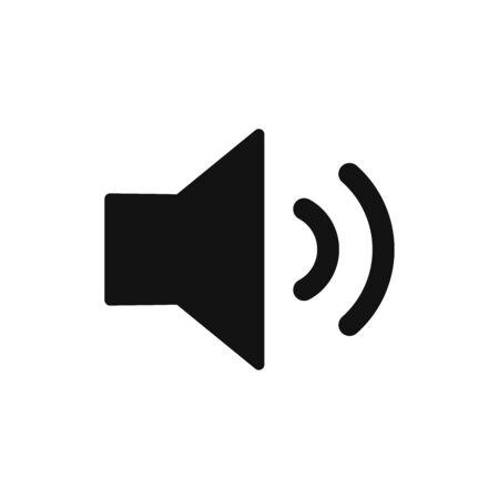 Sound icon vector. Speaker sign
