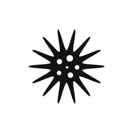 Bacteria icon vector. Virus sign
