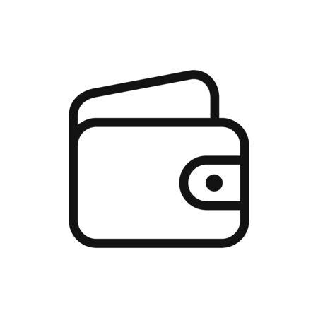 Wallet icon vector. Money sign
