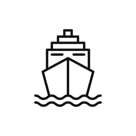 Ship icon vector. Cruise sign