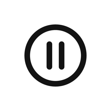 Pause icon vector. Stop sign