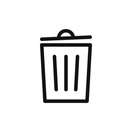 Trash can icon vector. Garbage sign