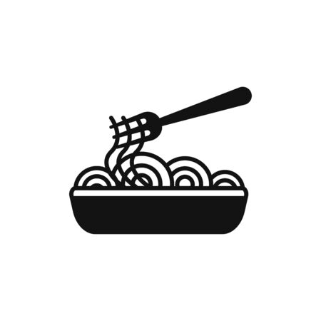 Spaghetti icon vector. Pasta sign