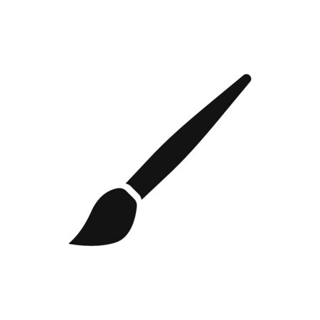 Brush icon vector. Artistic brush sign Vectores