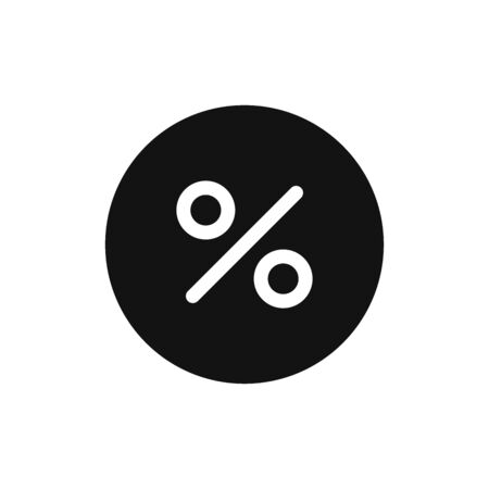 Percentage icon vector. Discount sign
