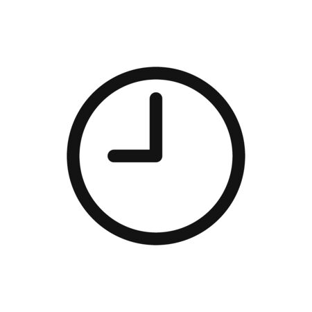 Clock icon vector. Time sign