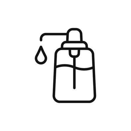 Liquid soap icon vector. Hand sanitizer sign Vectores
