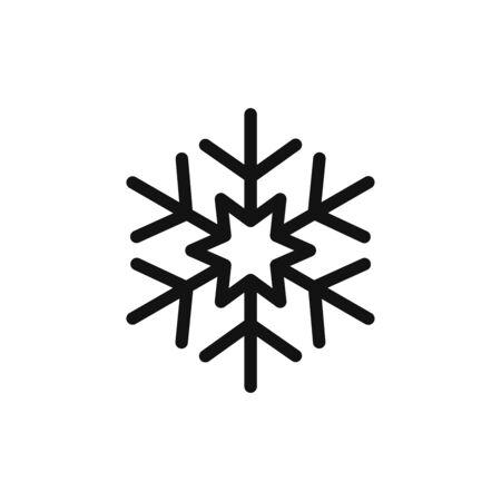 Snowflake icon vector. Snow sign Vectores