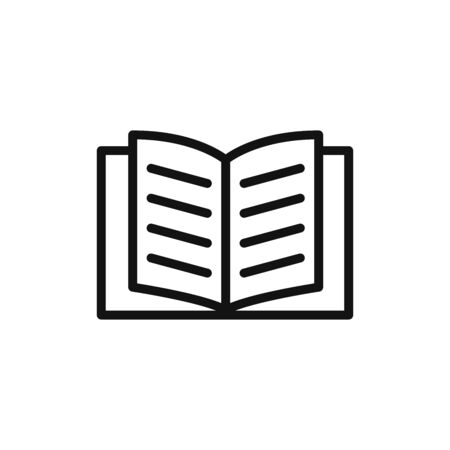 Book icon vector. Education sign