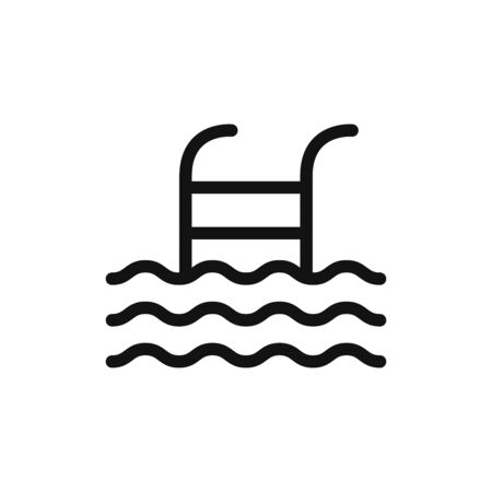 Swimming pool icon vector. Pool ladder sign