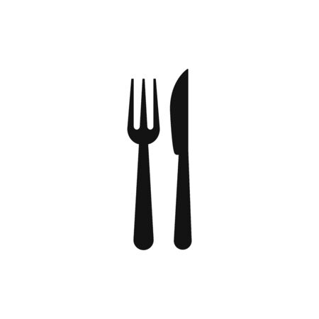 Fork and knife icon vector. Lunch or dinner sign Vectores