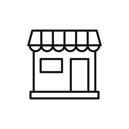 Store icon vector. Simple store sign Stockfoto - 148934297