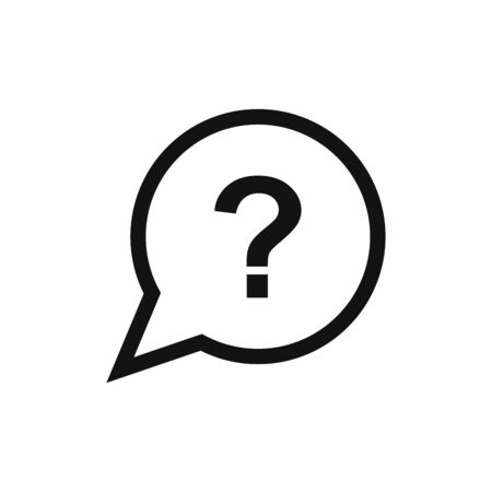 Question icon vector. Simple outline question sign