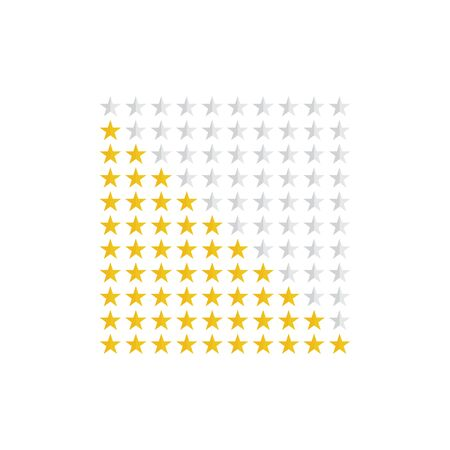 Star icon vector. Ten rating stars sign. Review product, rating symbol for web site or mobile app, ui design Vectores