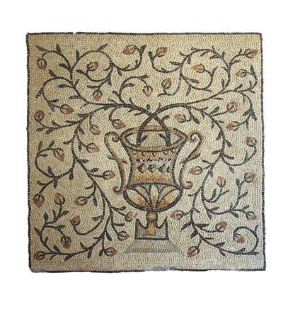 Jarrón Con Flores Ramas, Antiguos Mosaicos Bizantinos, Del Siglo V ...