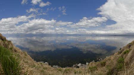 kamchatka:  Lake Kronotskoye  Panorama, Spring,  Kamchatka, Russia