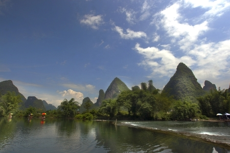 The picturesque landscape on the River Li, China, photo