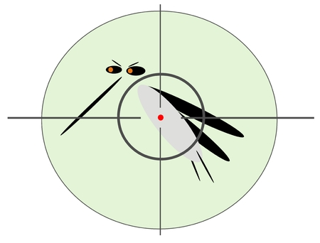 entomologist: mosquito in sight Illustration