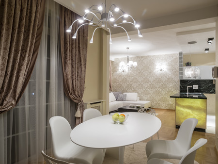 Dinning table in living room