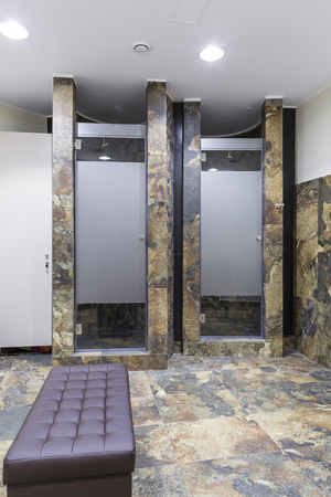 Fitness shower room Stock Photo - 68989608