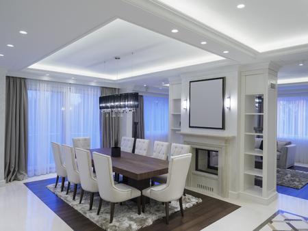 Modern minimalist dining room Foto de archivo