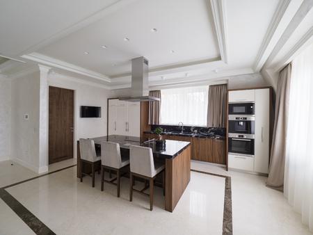 Modern minimalist kitchen Stock Photo
