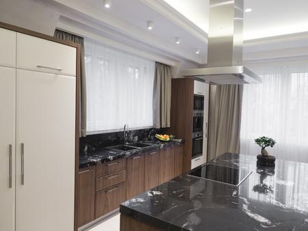 Modern minimalist kitchen Stock Photo - 102003855
