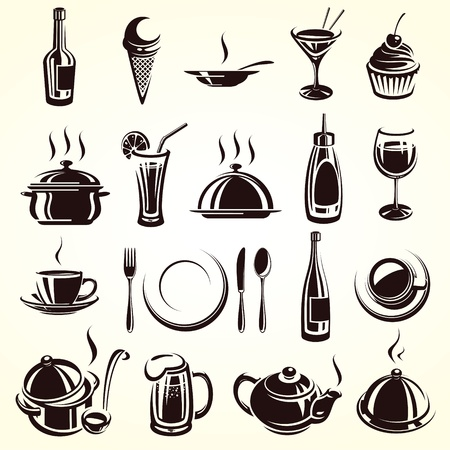 cooking icon: Restaurant elements set