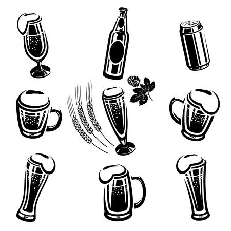 glass beer bottle: Beer Set