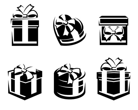 Set of colorful gift boxes  Vector Stock Vector - 17584947