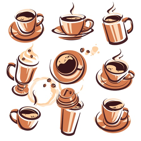 coffee set  Vector Illustration Stock Vector - 17584971
