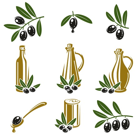 Olive set  Vector illustration Vector
