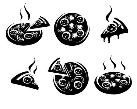 onion slice: pizza set  Vector illustration