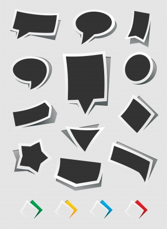 collection sticker for text  Vector Illustration