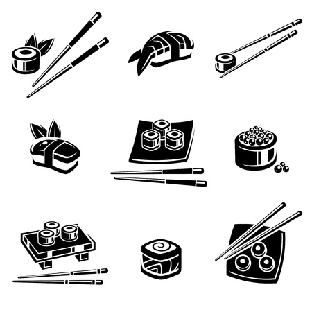 Sushi set  Vector illustration Stock Vector - 17778619