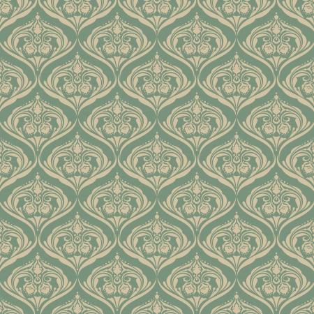 Seamless wallpaper pattern background  Vector