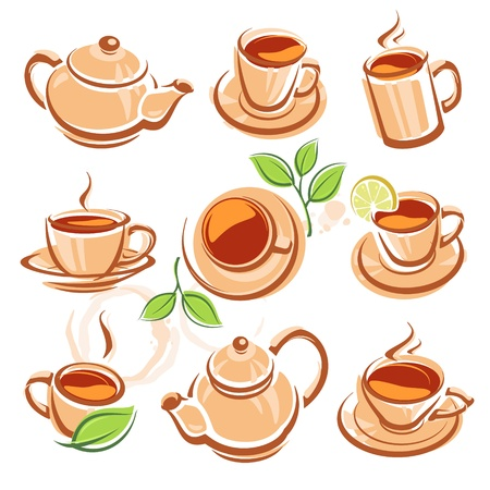 tea set Illustration