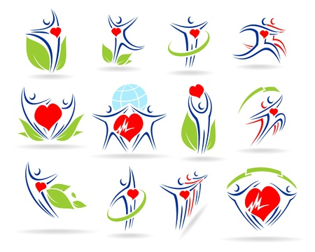 people collection medical icons Stock Vector - 17778629