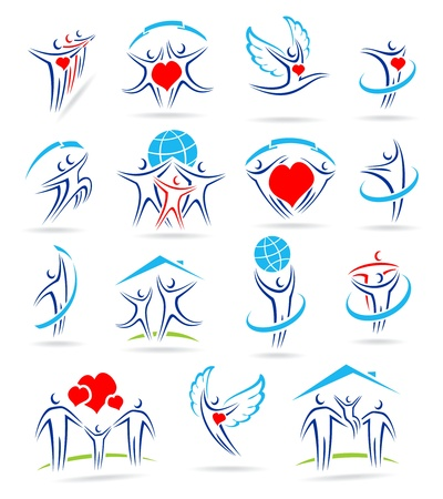 happy family set of icons and Stock Vector - 17778636