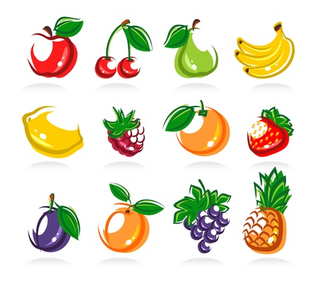 Collection of fruits set Stock Vector - 18081056