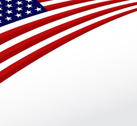 bandera estados unidos: EE.UU. bandera de bandera estadounidense de fondo vector Vectores