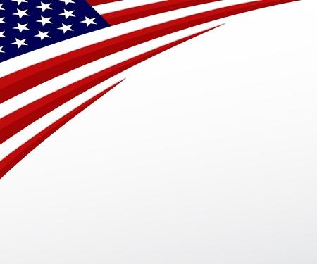 EE.UU. bandera de bandera estadounidense de fondo vector