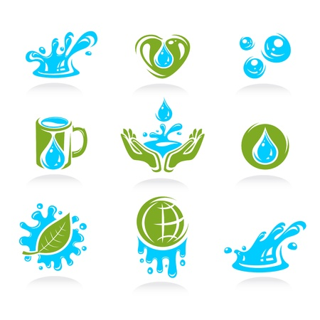 water icon set  Vector  Vector