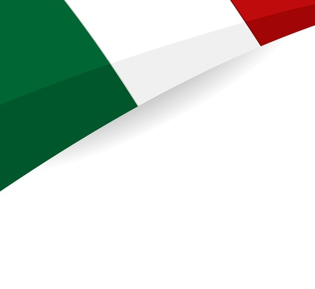 the italian flag: Italia Bandiera Vector