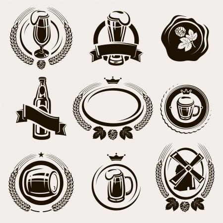 Tiquettes de bière mis Vecteur Banque d'images - 20275635