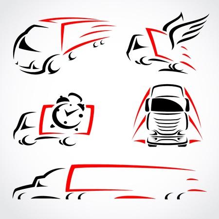 forme: Camions mis Vecteur Illustration