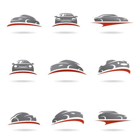 Auto set Stock Illustratie