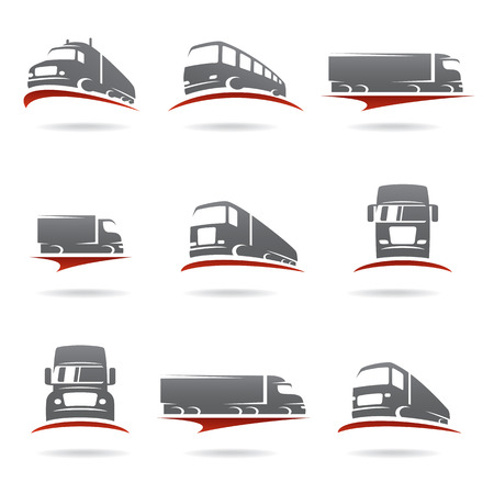 moving truck: Trucks set  Vector