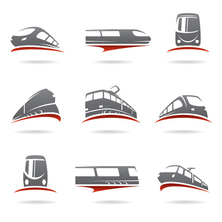 commuters: Train set Vector